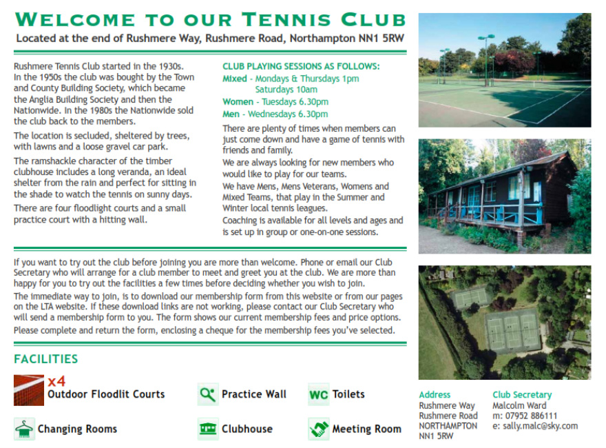 Rushmere Tennis Club
